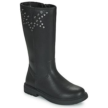 Topánky Dievčatá Čižmy do mesta Geox ECLAIR Čierna