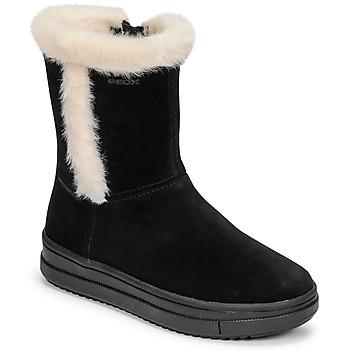 Topánky Dievčatá Čižmy do mesta Geox REBECCA Čierna / Biela