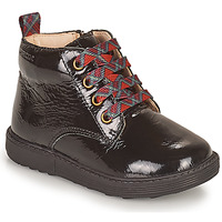 Topánky Dievčatá Polokozačky Geox HYNDE Čierna