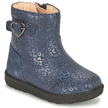 Topánky Dievčatá Čižmy do mesta Geox HYNDE Modrá