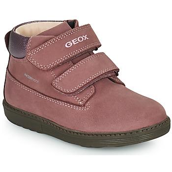 Topánky Dievčatá Polokozačky Geox HYNDE WPF Ružová