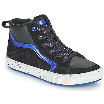 Topánky Chlapci Členkové tenisky Geox ALONISSO Čierna / Námornícka modrá