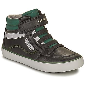 Topánky Chlapci Členkové tenisky Geox GISL Čierna / Zelená