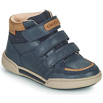 Topánky Chlapci Členkové tenisky Geox POSEIDO Námornícka modrá
