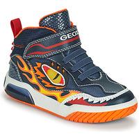 Topánky Chlapci Členkové tenisky Geox INEK Námornícka modrá / Červená