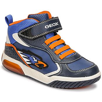 Topánky Chlapci Členkové tenisky Geox INEK Modrá / Oranžová
