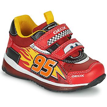 Topánky Chlapci Nízke tenisky Geox TODO Červená / Žltá