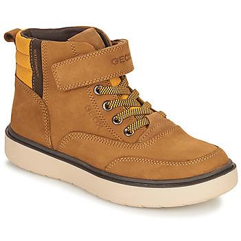 Topánky Chlapci Polokozačky Geox RIDDOCK WPF Ťavia hnedá
