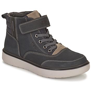 Topánky Chlapci Polokozačky Geox RIDDOCK WPF Námornícka modrá