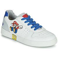 Topánky Chlapci Nízke tenisky Geox DJROCK Biela / Modrá