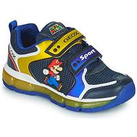 Topánky Chlapci Nízke tenisky Geox ANDROID Modrá / Žltá
