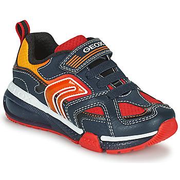 Topánky Chlapci Nízke tenisky Geox BAYONYC Námornícka modrá / Oranžová
