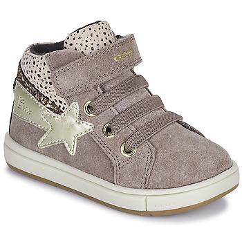 Topánky Dievčatá Členkové tenisky Geox TROTTOLA Béžová