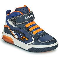 Topánky Chlapci Členkové tenisky Geox INEK Námornícka modrá / Oranžová