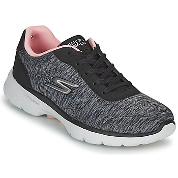 Topánky Ženy Nízke tenisky Skechers GO WALK 6 Šedá / Ružová