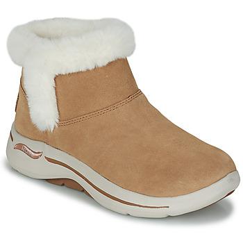 Topánky Ženy Polokozačky Skechers GO WALK ARCH FIT Hnedá