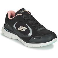 Topánky Ženy Nízke tenisky Skechers FLEX APPEAL 4.0 Čierna / Ružová