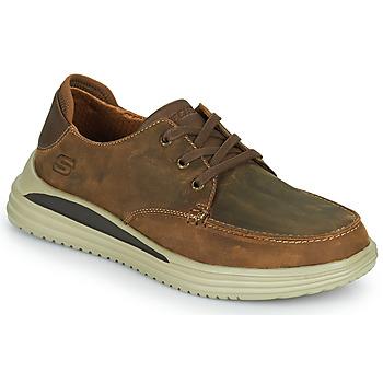 Topánky Muži Nízke tenisky Skechers PROVEN Hnedá