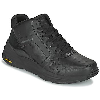 Topánky Muži Členkové tenisky Skechers GLOBAL JOGGER Čierna