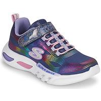 Topánky Dievčatá Nízke tenisky Skechers GLOW-BRITES Námornícka modrá / Led