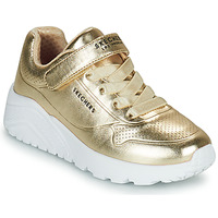 Topánky Dievčatá Nízke tenisky Skechers UNO LITE Zlatá