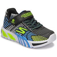 Topánky Chlapci Nízke tenisky Skechers FLEX-GLOW ELITE Čierna / Modrá / Led