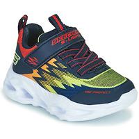 Topánky Chlapci Nízke tenisky Skechers VORTEX-FLASH Modrá / Oranžová