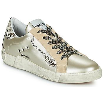Topánky Ženy Nízke tenisky Meline NK139 Zlatá / Hadí vzor