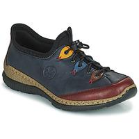 Topánky Ženy Derbie Rieker ENCORRA Modrá / Červená / Žltá