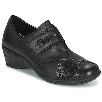 Topánky Ženy Mokasíny Rieker DEVENIRA Čierna
