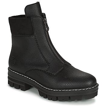 Topánky Ženy Polokozačky Rieker QUAMIN Čierna