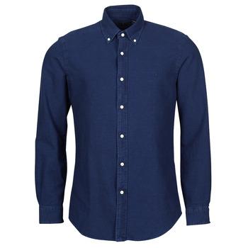 Oblečenie Muži Košele s dlhým rukávom Polo Ralph Lauren TRENNYB Velvet / Modrá