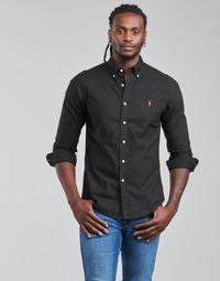 Oblečenie Muži Košele s dlhým rukávom Polo Ralph Lauren CAMISETA Čierna