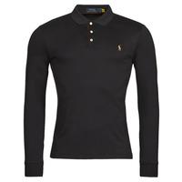 Oblečenie Muži Polokošele s dlhým rukávom Polo Ralph Lauren PERINA Čierna