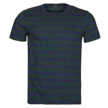 Oblečenie Muži Tričká s krátkym rukávom Polo Ralph Lauren POLINE Námornícka modrá / Zelená