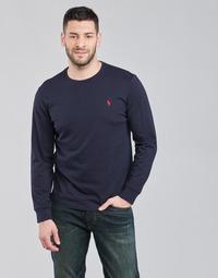 Oblečenie Muži Tričká s dlhým rukávom Polo Ralph Lauren DRENNI Námornícka modrá