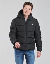 Oblečenie Muži Vyteplené bundy Superdry HOODED SPORTS PUFFER Čierna