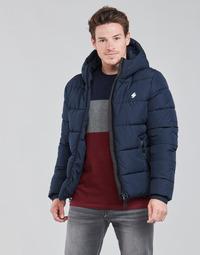 Oblečenie Muži Vyteplené bundy Superdry HOODED SPORTS PUFFER Modrá