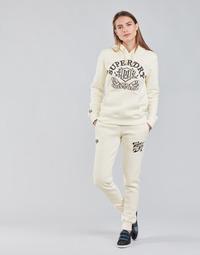 Oblečenie Ženy Tepláky a vrchné oblečenie Superdry PRIDE IN CRAFT JOGGER Krémová
