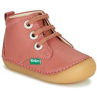 Topánky Dievčatá Polokozačky Kickers SONIZA Ružová