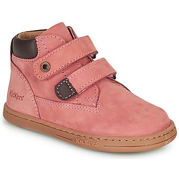 Topánky Dievčatá Polokozačky Kickers TACKEASY Ružová