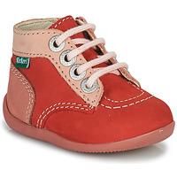 Topánky Dievčatá Polokozačky Kickers BONZIP-2 Ružová