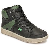 Topánky Chlapci Členkové tenisky Kickers LOWELL Čierna / Zelená