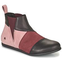 Topánky Ženy Polokozačky Art LARISSA Fialová  / Čierna