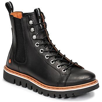 Topánky Polokozačky Art TORONTO Čierna