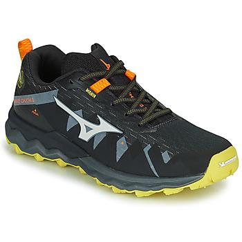 Topánky Muži Bežecká a trailová obuv Mizuno WAVE DAICHI 4 Čierna / Oranžová