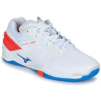Topánky Muži Indoor obuv Mizuno STEALTH NEO Biela / Modrá