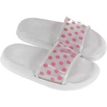Topánky Deti Šľapky John-C Detské biele šľapky BELL biela
