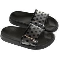 Topánky Deti Šľapky John-C Detské čierne šľapky BELL čierna