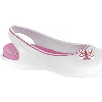 Topánky Deti Šľapky John-C Detské biele crocsy EMMIE biela
